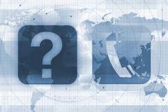 目录全球电话 免版税库存图片