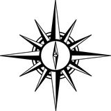 лимб картушки компаса Стоковая Фотография RF