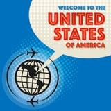 欢迎光临美利坚合众国 库存照片