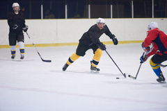 Игроки спорта хоккея на льде Стоковая Фотография RF