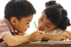 азиатские малыши Стоковое Изображение