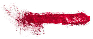 Φωτεινή αφηρημένη ζωγραφική που χρωματίζεται με τα ακρυλικά χρώματα Στοκ Εικόνα