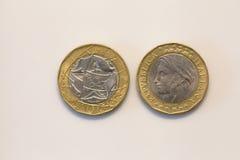 Старые итальянские монетки Стоковое Фото