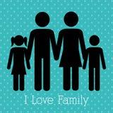 дом свободной руки семьи чертежа Стоковая Фотография