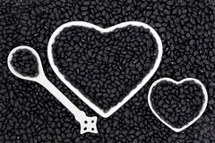 Μαύρα φασόλια Στοκ φωτογραφίες με δικαίωμα ελεύθερης χρήσης