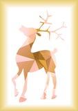 圣诞节驯鹿剪影 图库摄影
