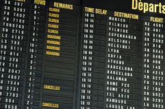 πτήσεις αερολιμένων Στοκ φωτογραφίες με δικαίωμα ελεύθερης χρήσης