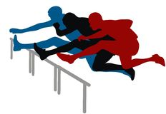 跨栏赛跑 免版税库存图片