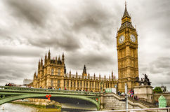 威斯敏斯特宫,议会,伦敦议院  库存照片
