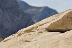 与山的岩石在背景中 免版税库存图片