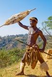 αφρικανικός πολεμιστής Στοκ εικόνα με δικαίωμα ελεύθερης χρήσης