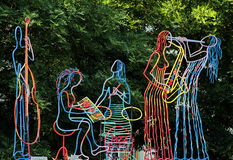 Статуя джаз-бэнда Стоковое Фото