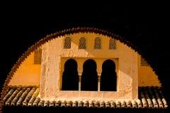 όμορφο μαυριτανικό παράθυ& Στοκ φωτογραφία με δικαίωμα ελεύθερης χρήσης