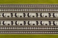 绿色棉织物纹理  免版税库存图片