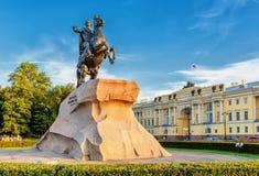 ιππέας χαλκού Πετρούπολη Άγιος Ρωσία Στοκ Φωτογραφία