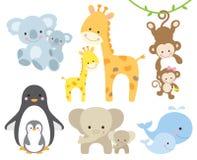 动物和婴孩 免版税库存照片