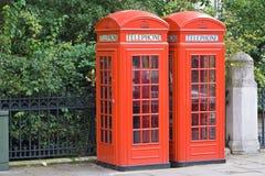 伦敦公用电话 图库摄影
