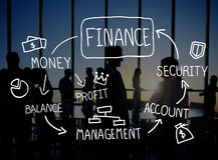 Концепция управления анализа учета коммерческих операций финансов Стоковое Изображение