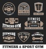 Γυμναστική ικανότητας και σχέδιο εμβλημάτων λογότυπων αθλητικών λεσχών Στοκ φωτογραφίες με δικαίωμα ελεύθερης χρήσης