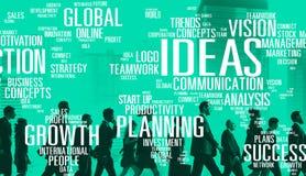 想法创新创造性知识启发视觉概念 库存图片