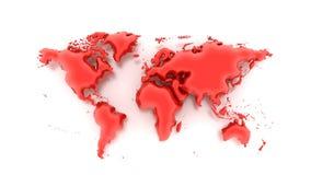 Воздушный шар карты слова Стоковые Фотографии RF
