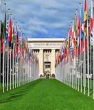 联合国大厦,日内瓦 免版税库存图片