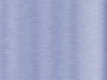текстура металла предпосылки голубая почищенная щеткой Стоковая Фотография
