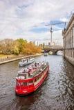 在狂欢河,柏林的游船城市 库存图片