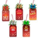 圣诞节价牌 库存照片