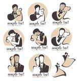 Логотип свадьбы Стоковые Изображения