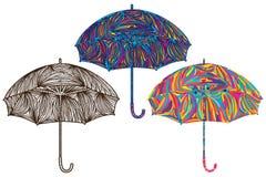 伞五颜六色的颜色 免版税库存照片