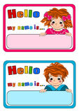 бирки малышей названные Стоковая Фотография