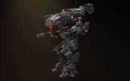 机械机器人的争斗 免版税图库摄影