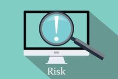 Искать риск и возможность Стоковые Изображения