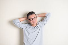 Азиатский старший мужчина Стоковые Изображения RF
