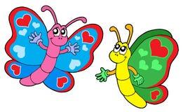 пары сердец бабочек Стоковые Изображения RF