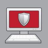 Ασπίδα υπολογιστών Στοκ εικόνα με δικαίωμα ελεύθερης χρήσης