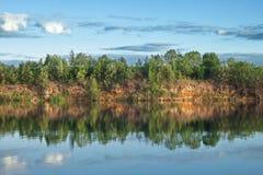 Холмистый ландшафт лета Стоковая Фотография RF