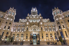 马德里城镇厅 库存图片