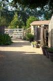 庭院棚子厂和森林 免版税图库摄影