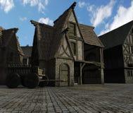 中世纪的谷仓 库存图片
