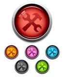 инструмент иконы кнопки Стоковые Фото