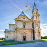 蒙特普齐亚诺圣比亚焦教会 免版税库存图片