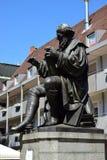 对汉斯・萨赫斯的纪念碑在纽伦堡,德国 免版税图库摄影