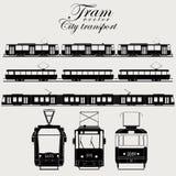 Переход города вектора трамвая Стоковая Фотография