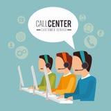 电话中心和技术支持 库存图片