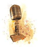 μικρόφωνο παλαιό Στοκ Εικόνα