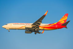 中国海南航空飞机 图库摄影