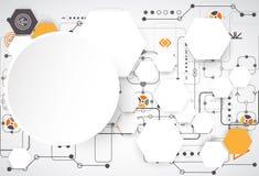 Ψηφιακό σχέδιο σύνδεσης Στοκ εικόνα με δικαίωμα ελεύθερης χρήσης