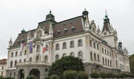 卢布尔雅那,斯洛文尼亚大学  免版税库存照片